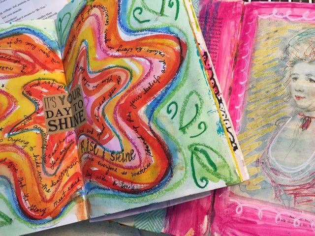 creative writing art journaling